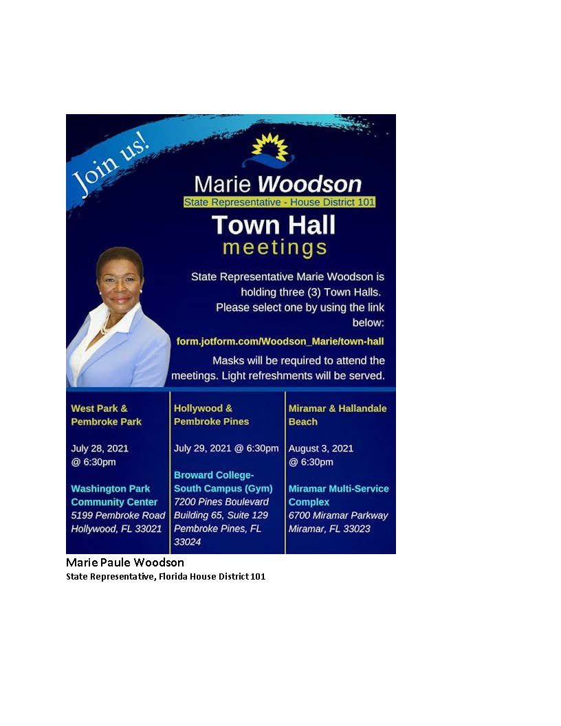 Town Hall Meetings - State Representative Marie Woodson
