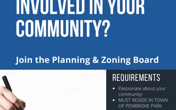 Need Planning & Zoning Board Members